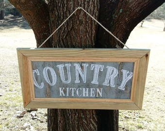 Country kitchen sign- vintage look-rustic