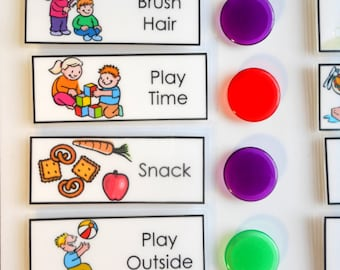 Chore Chart Shipped for Kids, Daily Checklist, To Do List, you choose the Chores