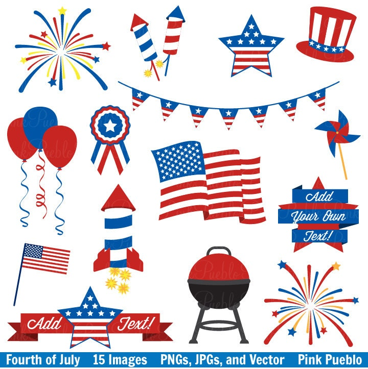 fourth of july clip art clipart 4th of july clip art clipart rh etsy com clip art 4th of july bathing suits clipart 4th of july 2017