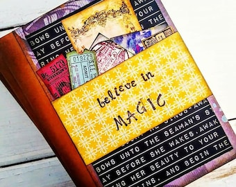 Believe in Magic Slim Journal with Unlined Pages