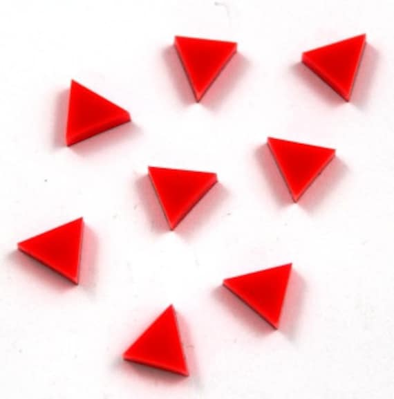 Laser Cut Supplies-8 Pieces. Triangle Charms-Acrylic and Wood Laser Cut-Jewellery Supplies-Little Laser Lab Wood and Acrylic Products