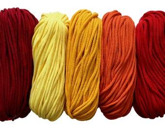 cotton yarn 5mm cotton rope zpaghetti yarn knitting basket rug