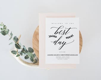 DIY Newspaper Wedding Program DIY Program Wedding Program