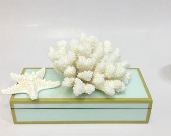Beach Decor - Natural Brown Stem Coral (#10) - Coastal Decor 35th Anniversary Gift Sea Shells Seashells