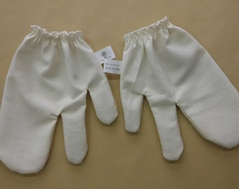 Raw Silk Garshana Gloves for Ayurvedic Massage- Healthy skin glow, Reduce cellulite, Remove toxins, Increase circulation, Exfolitate