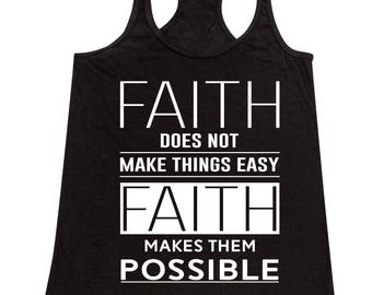 Faith Makes Things Possible Bible Verse - Ladies' Tank Top