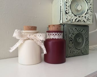 Farmhouse Mini-Bottles Red/Cream