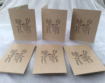 Pack of 6 mini Christmas cards.