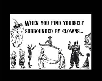 Clown Greeting Card, Encouragement Card, Clown Card, Funny Card, Humorous Card, Circus Card, Carnival Card, Humor Card, Greeting Card, Card