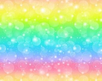 Euro rainbow knit bubbles cotton lycra knit 1/2 yard