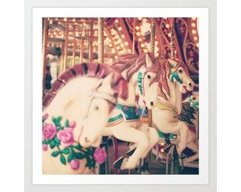 Carousel horse, carousel horse decor, girl nursery decor girl nursery wall art, toddler girl room decor nursery canvas art nursery canvas