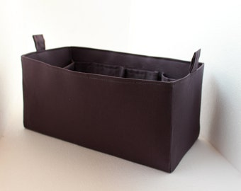 Purse organizer - Bag organizer insert 13W x 6HX 6D in Grey