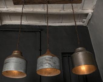Galvanized Lighting Fixture Chandelier,Rustic industrial lighting -industrial light - home/ bar/ restaurant Light - ceiling light