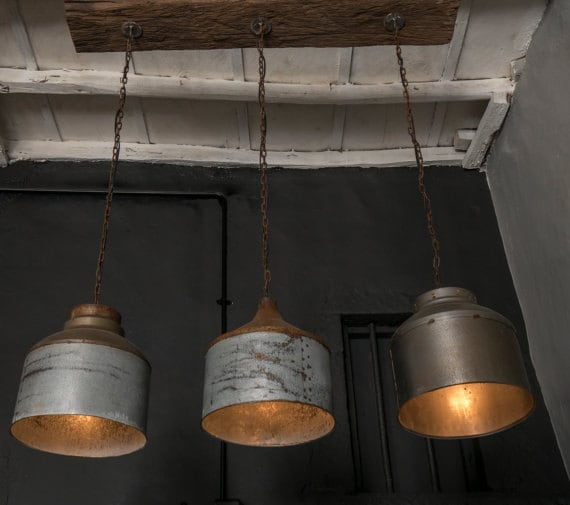 Galvanized Lighting Fixture Chandelierrustic Industrial