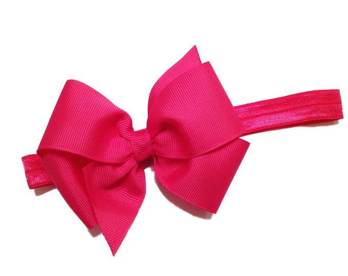 YOU PICK color baby headband - baby bow headband, baby headbands, baby headband bows, baby girl headbands, baby bows, newborn headbands, bow