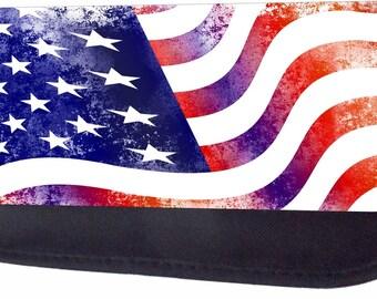 Grunge American Flag Black Pencil Bag - Pencil Case