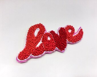 LOVE - Embroidery hand made stripe for your clothes