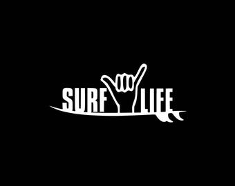 Surf Life Decal, Surfer Decal,Love to Surf Decal, Surfing Car Decals, Surfer Surfing Stickers Car Decal Laptop Tablet Wall Surfing Decal