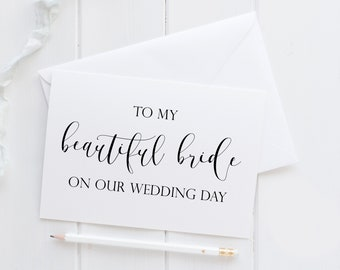 To My Beautiful Bride Card. To My Bride Card. Bride Card For Wedding Day. Wedding Day Bride Card. To Bride On Wedding Day. Fiance Card.