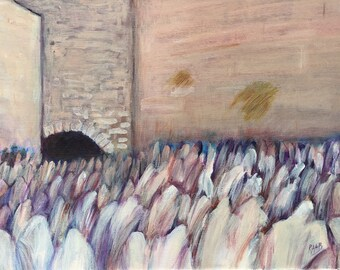 The Kotel in Light Magenta by Leah Raab
