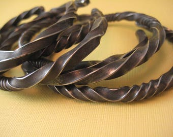 Extra thick Wrought IRON Steel  Bracelet