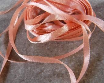 Peach Thin Woven Edge Ribbon