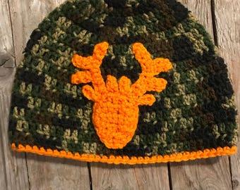 Camo buck Hat