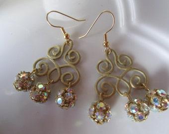 Golden Splendor Earrings
