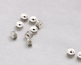 925 Sterling Silver Beads Thai Silver Spacer Beads DIY Bead Wholesale Y390
