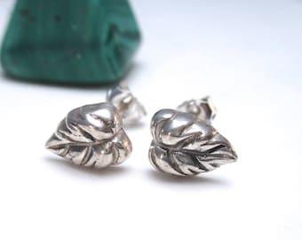 Sterling Silver Leaf Earrings, Leaf Stud Earrings, Fall Jewelry, Womens Gift Jewelry 2017 Jewelery Trends
