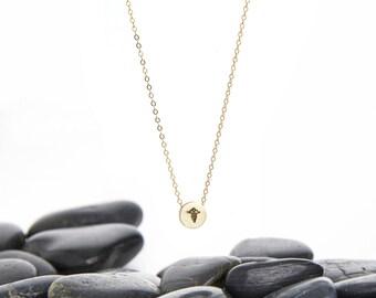 Caduceus Necklace, Medical Jewelry, Medical Necklace, Nurse Necklace, Nurse Jewelry, Caduceus Pendant, Caduceus Charm, Nurse Gift