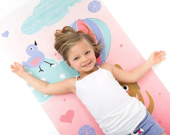DUCK DUCK DOG Original Yoga Mats for Kids ~ Eco-Conscious + Super-Soft + Machine-Washable!