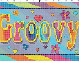 Counted Cross Stitch pattern Groovy