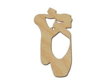 Ballerina Slippers Wood Cutout Unfinished Wooden Ballet Shoe Shape
