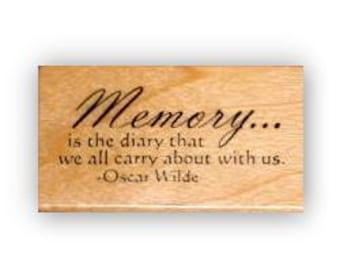Memory is... mounted rubber stamp No.15