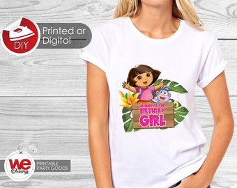 Printed or Digital DIY Printable Dora the explorer On Transfer, Custom, DIY, Printable  Dora, Dora  Birthday
