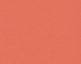 "100% Kona Cotton Nectarine Color 44""W"