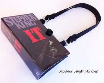 Stephen King IT Book Purse - Stephen King Collector Gift - Evil Clown Accessory - Childhood Nightmare Handbag - Pennywise Costume