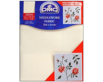 DMC Aida Fabric Cloth 14ct Cross Stitch Embroidery Square Weave
