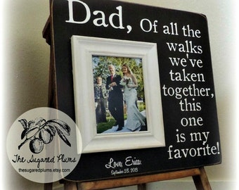 Wedding Thank You Gift Ideas for Parents, Father of the Bride Gift, Wedding Gift for Dad, Personalized Frame, 16x16Sugared Plums Frames