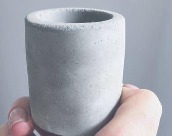 Small concrete pot for succulent or cactus