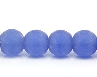 M* - 10 mm Frosted Glass Beads (1414)