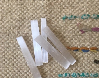 Moroccan Selenite Wands (Three pieces)