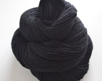 Pure Merino Wool Reclaimed Yarn - Jet Black