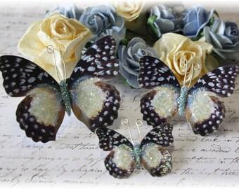 Vanilla Sky Glitter Glass Butterfly Die Cut Embellishments for Scrapbooking, Cardmaking, Tag Art