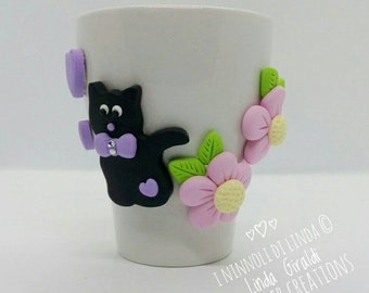 Mug with Black Kitten