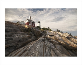 Pemaquid Point Lighthouse - Maine - Color Photo Print - Fine Art Photography (LM06)
