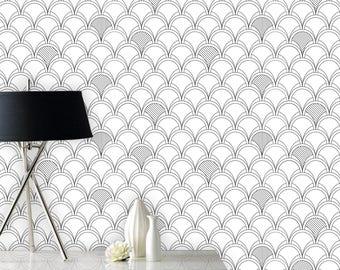 Inside out / Geometric wallpaper / Art deco wallpaper / Self