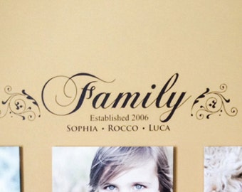 Family Decal - Family Established Sign - Family Established Decal - Family Decal Sticker - Family Wall Decal - Custom Signs - Custom Decal