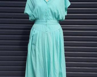 Vintage Cute Mint Green Tea Dress